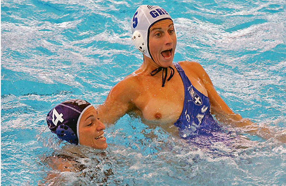 Womens water polo breast what